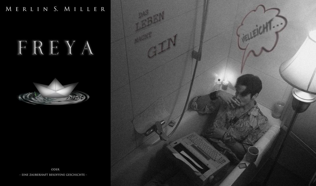 Merlin Miller liest im Cafe Erika aus Freya