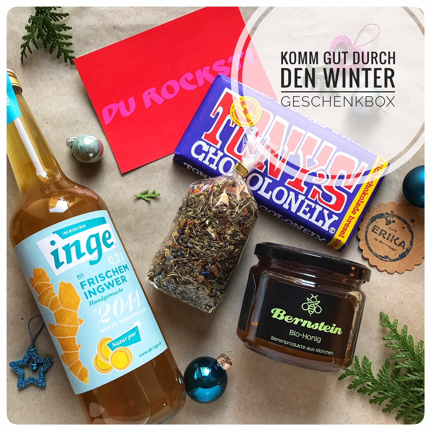 Unsere Geschenkbox um gut durch den Winter zu kommen